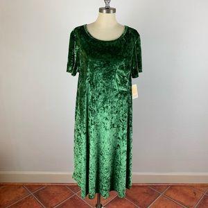 LuLaRoe Velvet Green Carly Dress